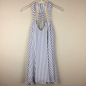 lucy paris | Striped Racerback Trapeze Dress